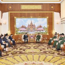 Senior General Min Aung Hlaing receives Parliamentary Vice-Minister for Foreign Affairs of Japan