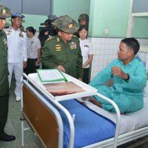 Senior General Min Aung Hlaing visits Defence Services Liver Specialist Hospital, Defence Services General Hospital (Mingaladon)