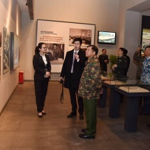Myanmar Tatmadaw goodwill delegation led by Senior General Min Aung Hlaing visits Shenzhen Lotus Hill Park, Shenzhen Museum