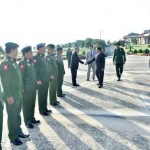 တပ်မတော်ကာကွယ်ရေးဦးစီးချုပ် ဗိုလ်ချုပ်မှူးကြီး မင်းအောင်လှိုင် ဦးဆောင်သည့် မြန်မာ့တပ်မတော် ချစ်ကြည်ရေးကိုယ်စားလှယ်အဖွဲ့ တရုတ်ပြည်သူ့သမ္မတနိုင်ငံသို့ ချစ်ကြည်ရေးခရီးထွက်ခွာ