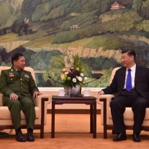 Senior General Min Aung Hlaing holds talks with President of PRC Mr. Xi Jinping