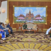 Senior General Min Aung Hlaing receives Chairman of Myanmar-Belarus Military Technological Cooperation Joint Commission of Belarus