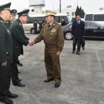 တပ်မတော်ကာကွယ်ရေးဦးစီးချုပ် ဗိုလ်ချုပ်မှူးကြီး မင်းအောင်လှိုင်ဦးဆောင်သည့် မြန်မာ့တပ်မတော်ချစ်ကြည်ရေးကိုယ်စားလှယ်အဖွဲ့ ပေကျင်းမြို့သို့ ရောက်ရှိ၊ သံရုံး၊ စစ်သံရုံးမိသားစုများအားတွေ့ဆုံအမှာစကားပြောကြား
