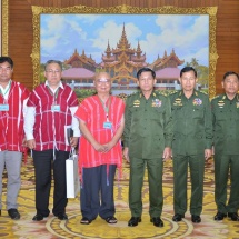 Senior General Min Aung Hlaing holds meeting with Karen National Union (KNU) Chairman Saw Mutu Sae Poe