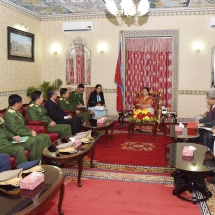 Senior General Min Aung Hlaing holds talks with President of Nepal H.E. Mrs. Bidhya Devi Bhandari