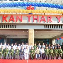 Senior General Min Aung Hlaing attends inauguration of Kan Thar Yar International Specialist Hospital