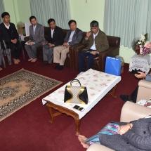 တပ်မတော်ကာကွယ်ရေးဦးစီးချုပ် ဗိုလ်ချုပ်မှူးကြီး မင်းအောင်လှိုင် နီပေါနိုင်ငံဆိုင်ရာမြန်မာနိုင်ငံသံရုံးမိသားစုများအား တွေ့ဆုံအမှာစကားပြောကြား
