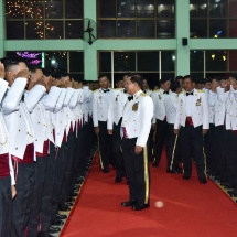 Senior General Min Aung Hlaing attends graduation dinner of 19th Intake of DSTA