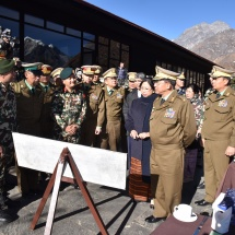 Myanmar Tatmadaw goodwill delegation led by Senior General Min Aung Hlaing visits Himalayan mountain ranges including Mount Everest in Nepal, Birendra Peace Operation Training Center