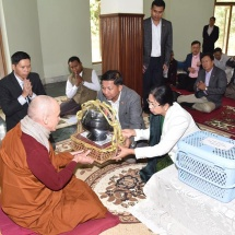 Senior General Min Aung Hlaing and Myanmar Tatmadaw goodwill delegation visit Lumbini Park the birth place of Buddha