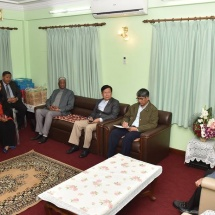 Senior General Min Aung Hlaing receives officials of Nepal-Myanmar Friendship Council