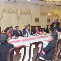 မြန်မာ့တပ်မတော်ချစ်ကြည်ရေးကိုယ်စားလှယ်အဖွဲ့အား နီပေါတပ်မတော်ကြည်းတပ် ဦးစီးချုပ် Gen. Ranjendra Chhetri ကကြိုဆိုဂုဏ်ပြုညစာဖြင့်တည်ခင်းဧည့်ခံ