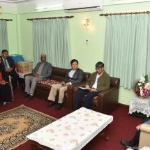 တပ်မတော်ကာကွယ်ရေးဦးစီးချုပ် ဗိုလ်ချုပ်မှူးကြီးမင်းအောင်လှိုင် နီပေါ-မြန်မာ ချစ်ကြည်ရေးအသင်းမှတာဝန်ရှိသူများနှင့်တွေ့ဆုံ