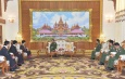 Commander-in-Chief of Defence Services Senior General Min Aung Hlaing receives chairman of LDU which will participate in peace process