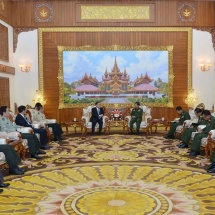 Senior General Min Aung Hlaing receives delegation led by Chinese Vice Minister of Foreign Affairs Mr. Kong Xuanyou