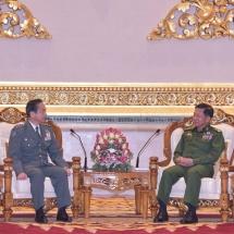Senior General Min Aung Hlaing receives Gen. Koji YAMAZAKI, Chief of Staff of Japan Ground Self-Defense Force