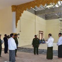 Senior General Min Aung Hlaing inspects progress in construction of Thiri Mingala Maha Sasana Beikman