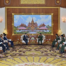 Senior General Min Aung Hlaing receives Special Envoy Mr. Sun Guoxiang of Asian Affairs of Ministry of Foreign Affairs of the People's Republic of China