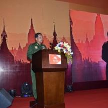 တပ်မတော်ကာကွယ်ရေးဦးစီးချုပ် ဗိုလ်ချုပ်မှူးကြီး မင်းအောင်လှိုင်  မြန်မာနိုင်ငံ၏စတုတ္ထမြောက်အော်ပရေတာ တစ်ခုဖြစ်သော Telecom International Myanmar Company Limited (Mytel) ၏ First Call Announcement အခမ်းအနားသို့ တက်ရောက်