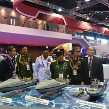 Senior General Min Aung Hlaing attends Singapore Airshow 2018, holds meeting with Singaporean Chief of Defence Force