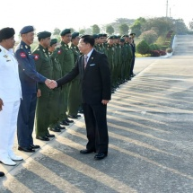 Senior General Min Aung Hlaing leaves Nay Pyi Taw to pay goodwill visit to Thailand, attend presentation of the Knight Grand Cross (First Class) of the Most Exalted Order of the White Elephant