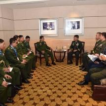 တပ်မတော်ကာကွယ်ရေးဦးစီးချုပ် ဗိုလ်ချုပ်မှူးကြီး မင်းအောင်လှိုင် (15th ACDFIM) တက်ရောက်မည့် အာဆီယံတပ်မတော်ကာကွယ်ရေးဦးစီးချုပ်များနှင့် နိုင်ငံအလိုက် သီးခြားစီတွေ့ဆုံဆွေးနွေး