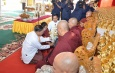 Golden umbrella hoisting and consecration ceremony of Aung Dhamma Yaza Pagoda held