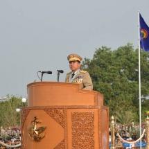 (၇၃)နှစ်မြောက်တပ်မတော်နေ့ စစ်ရေးပြအခမ်းအနားကျင်းပ
