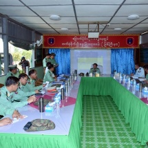 Senior General Min Aung Hlaing inspects agriculture and livestock breeding farm of Northern Command