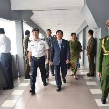(၁၅)ကြိမ်မြောက် အာဆီယံတပ်မတော်ကာကွယ်ရေးဦးစီးချုပ်များအလွတ်သဘော အစည်းအဝေး (15th ACDFIM) တက်ရောက်ရန်အတွက် တပ်မတော်ကာကွယ်ရေးဦးစီးချုပ်ဗိုလ်ချုပ်မှူးကြီး မင်းအောင်လှိုင် ဦးဆောင်သည့်မြန်မာ့တပ်မတော် ကိုယ်စားလှယ်အဖွဲ့ထွက်ခွာ