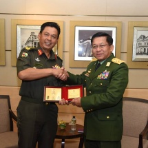 Senior General Min Aung Hlaing meets ASEAN Chiefs of Defence Forces separately in Singapore