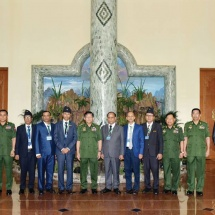 Senior General Min Aung Hlaing receives Chairman of All Myanmar Gurkha Hindu Dhamma Organization