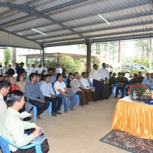 Senior General Min Aung Hlaing meets coffee growers in PyinOoLwin, visits PyinOoLwin Nan Myaing Coffee Factory