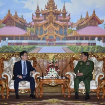 Commander-in-Chief of Defence Services Senior General Min Aung Hlaing receives Ambassador of Republic of Korea to Myanmar