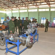 Servicemen from Defence Services Electrical and Mechanical Engineering Corps who are continuously carrying out repairing and maintenance of military weapons and machinery need to have strength at full capacity