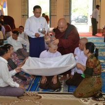 Sixth communal ordination and novitiation ceremony of families of Tatmadaw (Army, Navy and Air) held