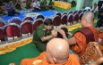 Tatmadaw families present offertories, meals, set up funds for monks of Masoeyein Monastery