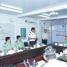 Senior General Min Aung Hlaing inspects Pathein, Myaungmya stations