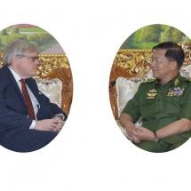 Senior General Min Aung Hlaing receives British Ambassador to Myanmar