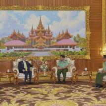 Senior General Min Aung Hlaing receives Ambassador of Qatar to Myanmar