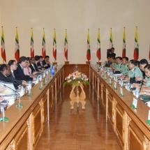တပ်မတော်ကာကွယ်ရေးဦးစီးချုပ် ဗိုလ်ချုပ်မှူးကြီး မင်းအောင်လှိုင် ကုလသမဂ္ဂလုံခြုံရေးကောင်စီအမြဲတမ်း ကိုယ်စားလှယ်အဖွဲ့ဝင်များနှင့်တွေ့ဆုံဆွေးနွေးမှုများ