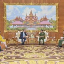 Senior General Min Aung Hlaing receives Ambassador of Switzerland to Myanmar