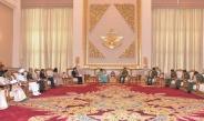 Senior General Min Aung Hlaing receives Minister of External Affairs of India H.E. Smt. Sushma Swaraj