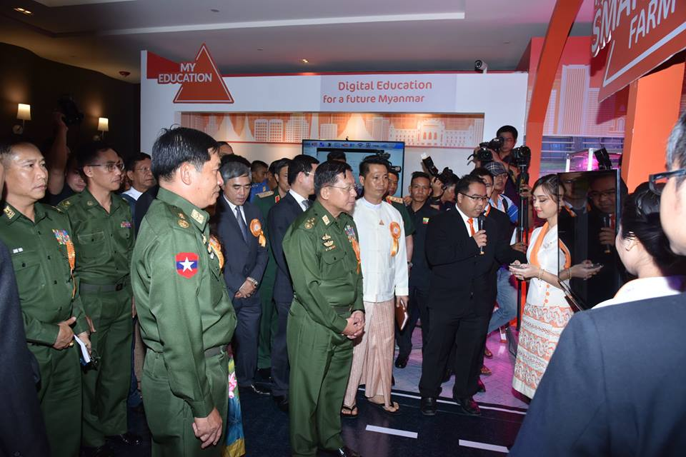 b994f4b72bf Also present at the ceremony together with the Senior General were Union  Ministers Lt-Gen Sein Win and Lt-Gen Ye Aung