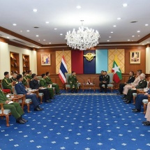 Chief of Defence Force of Royal Thai Armed Forces welcomes, holds talk with Senior General Min Aung Hlaing