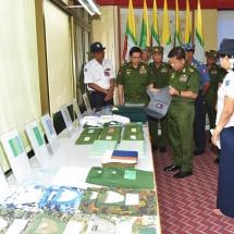 Senior General Min Aung Hlaing visits Tatmadaw Textile Factory (Meiktila), Tatmadaw Tarpaulin Factory, Shoe Factory (Hlinetet)