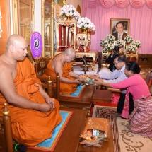 Senior General Min Aung Hlaing visits Wat Chaimongkol Monastery, Wat Luang Phor Aee Monastery, sea turtle breeding camp of Royal Thai Navy in Pattaya