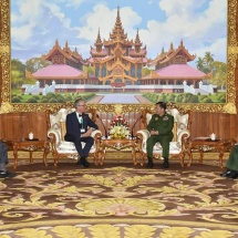 Senior General Min Aung Hlaing receives Ambassador of Switzerland H.E. Mr. Paul R. Seger