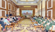 Senior General Min Aung Hlaing meets members of Peace Process Steering Team-PPST led by Chairman of Karen National Union (KNU) Saw Mutu Sae Poe