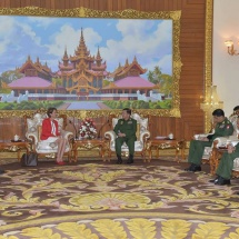 Senior General Min Aung Hlaing receives UNSG's Special Envoy on Myanmar Ms. Christine Schraner Burgener